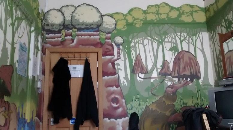 Our mushroom hostel