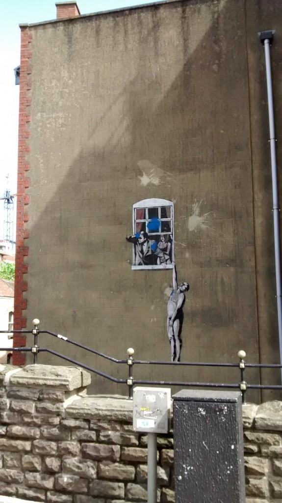 Banksy's Naked Man