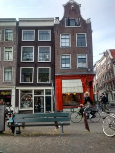 Crooked buildings, due to Amsterdam's wet soil